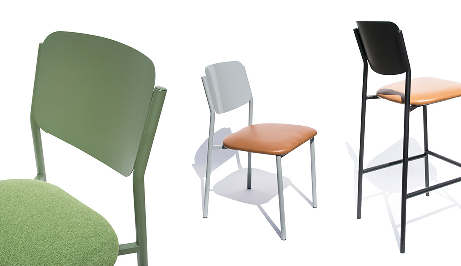 The Resto chair from Geoffrey Lilge's Div.12 collection