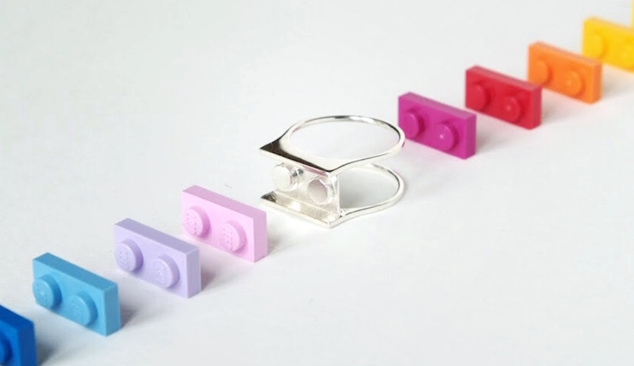 3D-printed LEGO jewellery by Hint.lab