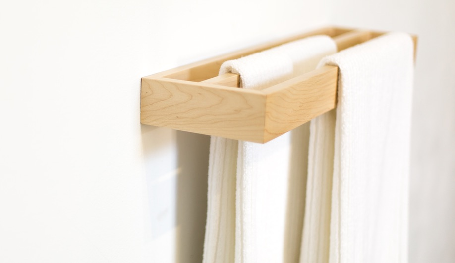 Routed towel bar by Kate Duncan