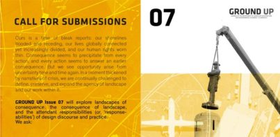 Call for Submissions: Ground Up Issue 7