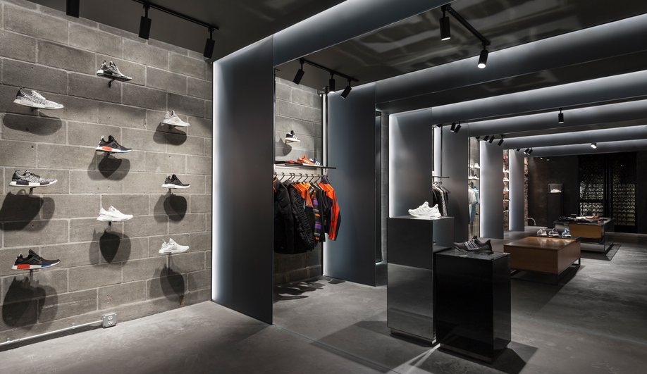 The cncpts and adidas store in boston is a temple of sneakers - Interior design schools in boston ...