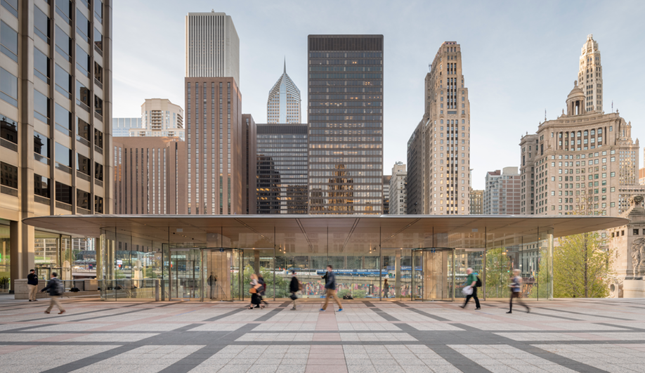 The New Apple Store In Chicago Steps Into The Limelight