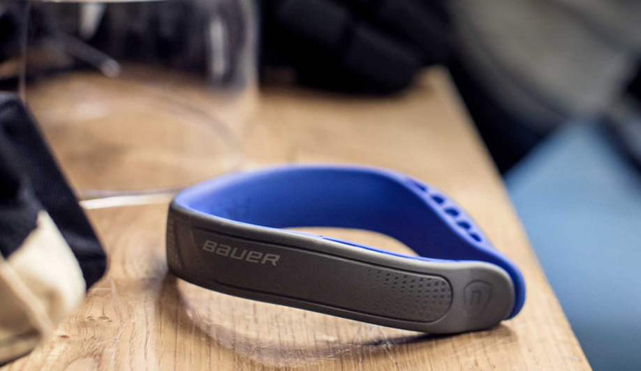 Bauer's Neuroshield is a collar that protects against concussions.