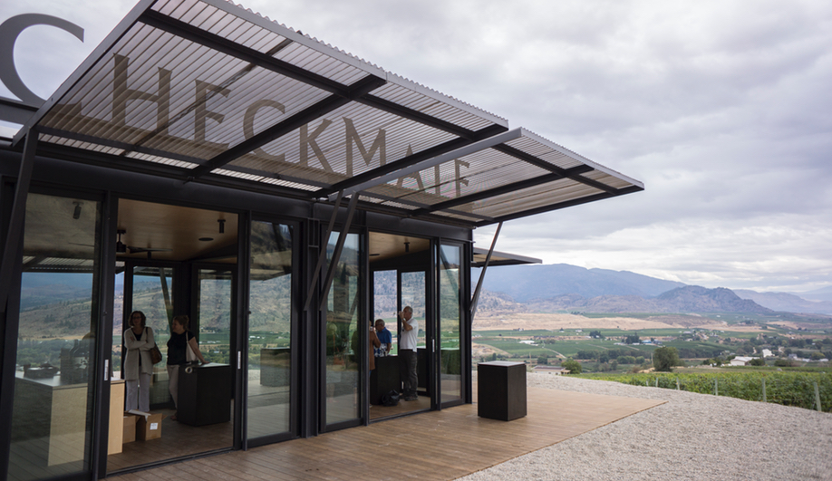 Tom Kundig's wine-tasting room was originally a pop-up for CheckMate in the Okanagan in B.C.