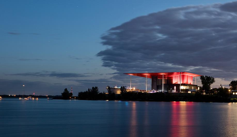 Paul Laurendeau's CogecoAmphitheatre on the Trois-Rivières waterfront