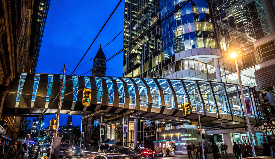 WilkinsonEyre's Eaton Centre bridge in Toronto.