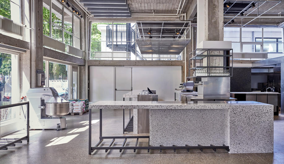 Old Scuola's industrial-inspired pizza joint was made by Rotterdam's Instability We Trust.