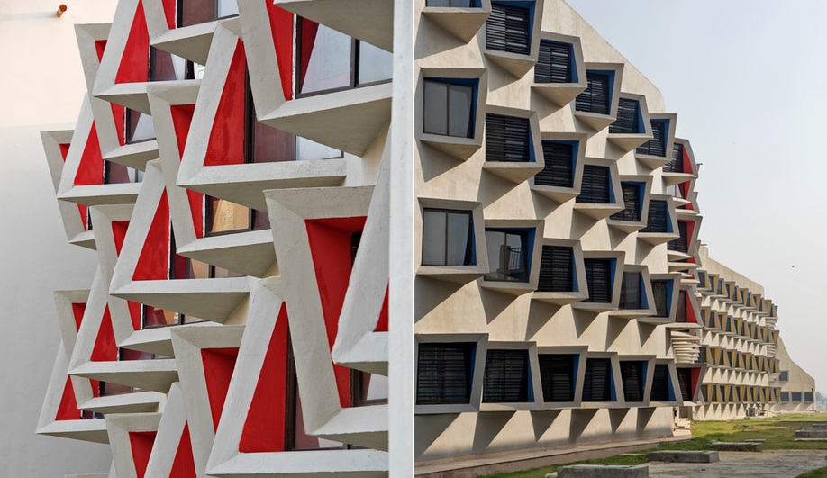 Sanjay Puri's student residence, called The Street, was built for GLA University in Mathura, India.