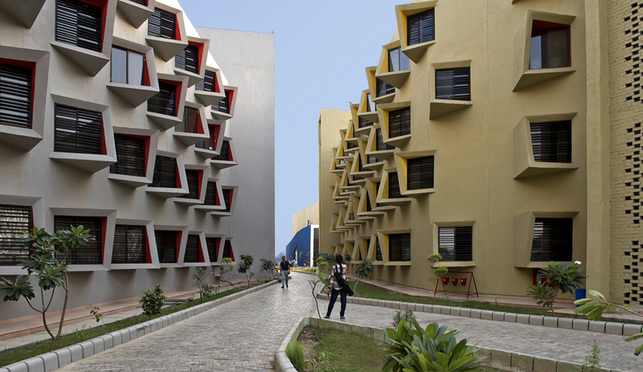 Sanjay Puri's Student Residence is Inspired by Mathura's Streets