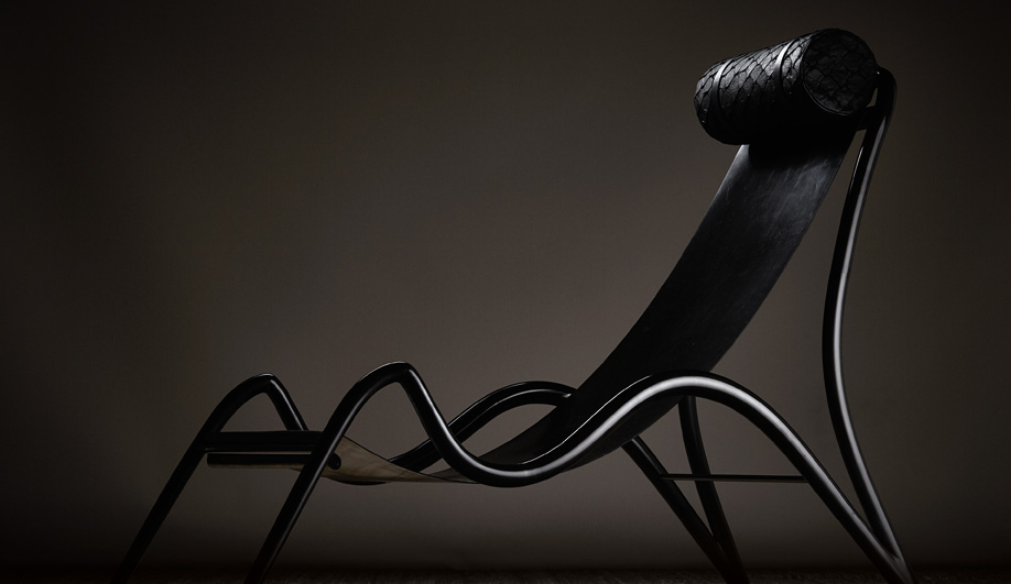 Studio Swine's Ebonite lounge chair.