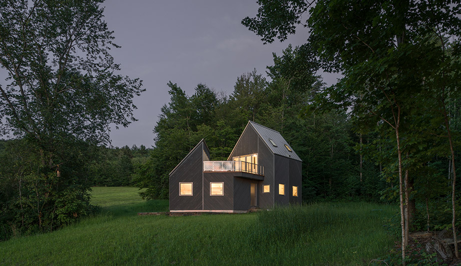 New Afflilates created the Turnbridge winter cabin in the Green Mountains in Vermont.
