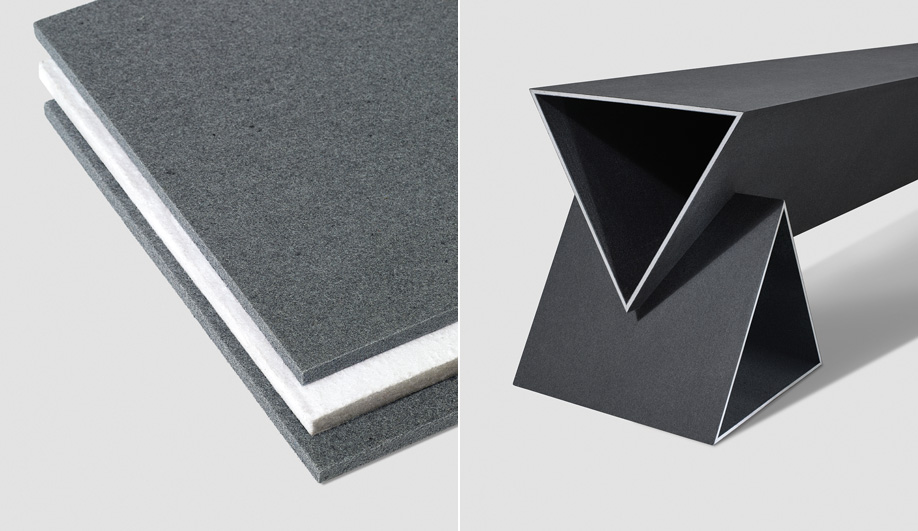 Danish company Really's panel boards use end-of-life textiles.