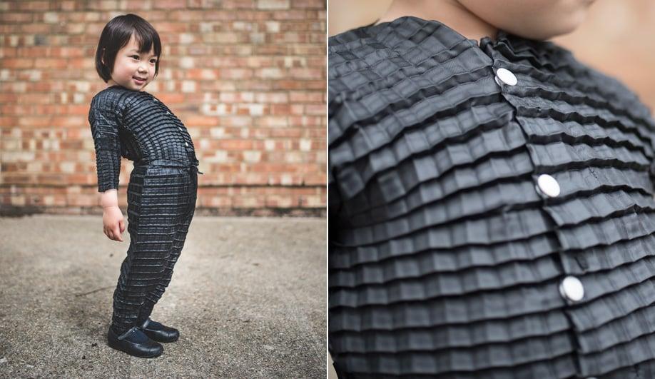 Ryan Mario Yasin's Petit Plit fabric expands as a child grows.