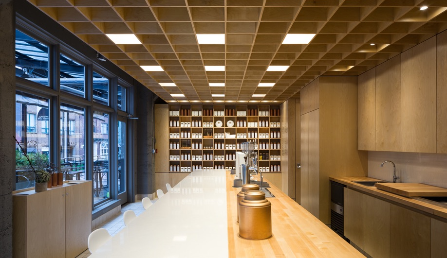 Cha Le in Vancouver was made by Glasfurd & Walker and Leckie Studio.
