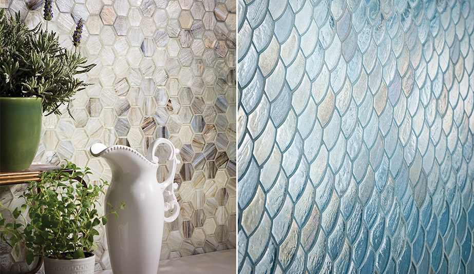 Luce Glass Mosaic Tiles by Lunada Bay Tile