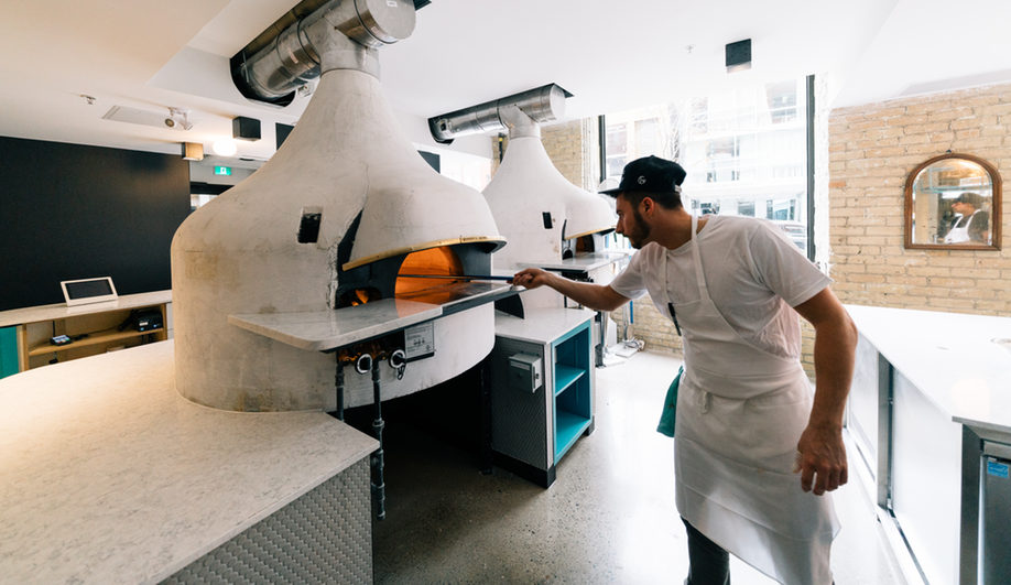 General Assembly Pizza in Toronto sourced hand-built pizza ovens from Naples.