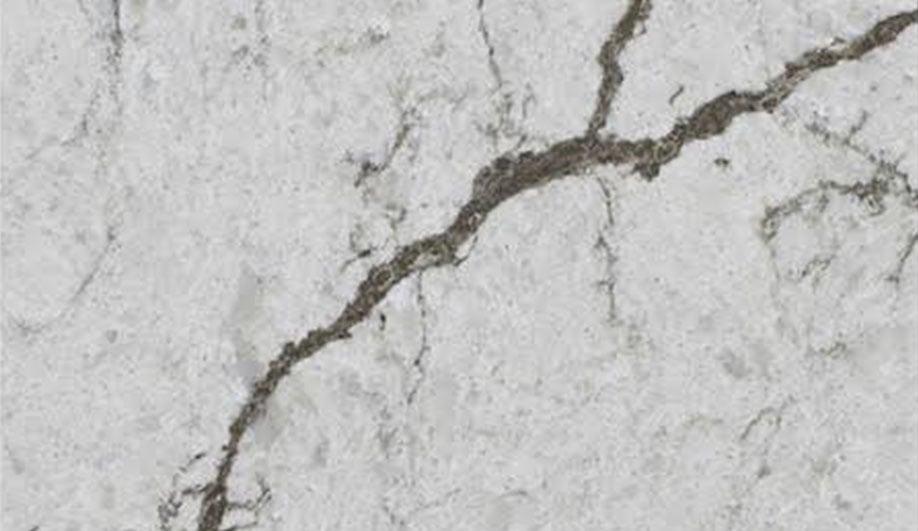 Nero Marquina quartz surfacing from Vicostone's 2018 Collection.