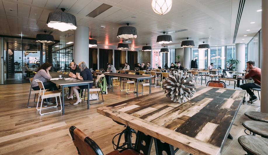 WeWork's London South Bank location includes showers and bike storage.
