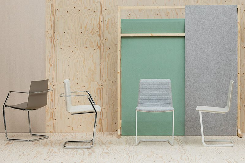 Flex High Back Cantilever Chair by Andreu World
