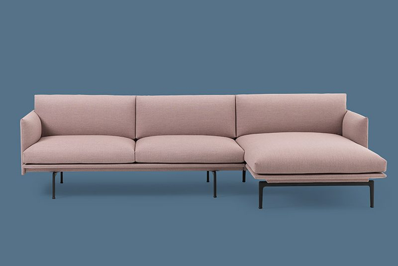 Outline Sofa Chaise Longue by Muuto