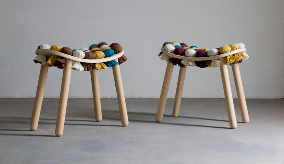Aratani Fay's Mochi stools.