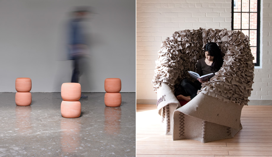 Aratani Fay's Terracotta table and Button-Up chair.