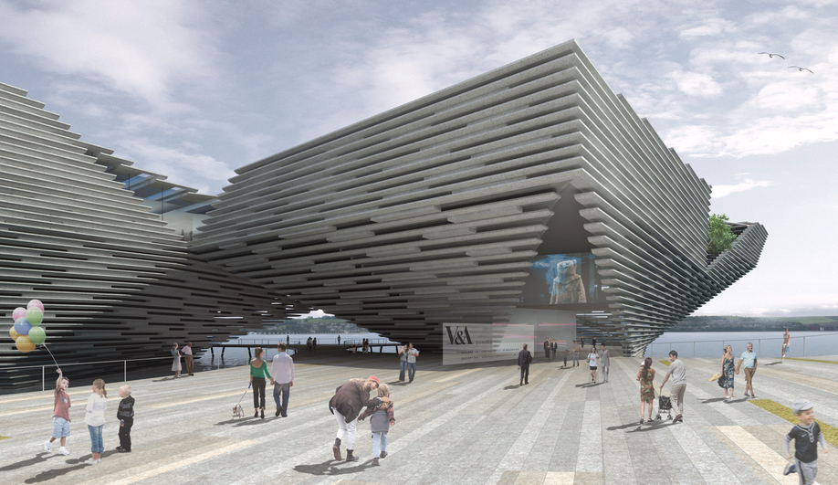 V&A Museum of Design Dundee, by Kengo Kuma Associates is one of our 10 Buildings to Watch in 2018.