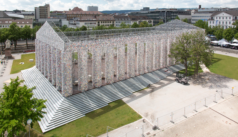 A full-scale Parthenon replica by Marta Minujín, displayed at Germany's documenta 14 art festival, speaks volumes about censorship.
