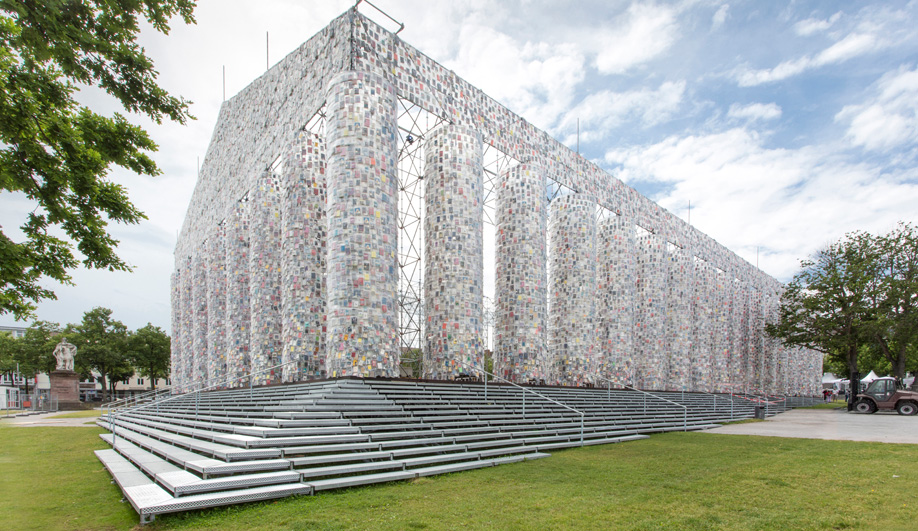 This Parthenon Replica is Made With 100,000 Banned Books