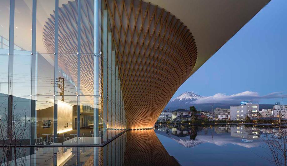 Mount Fuji World Heritage Center, by Shigeru Ban Architects