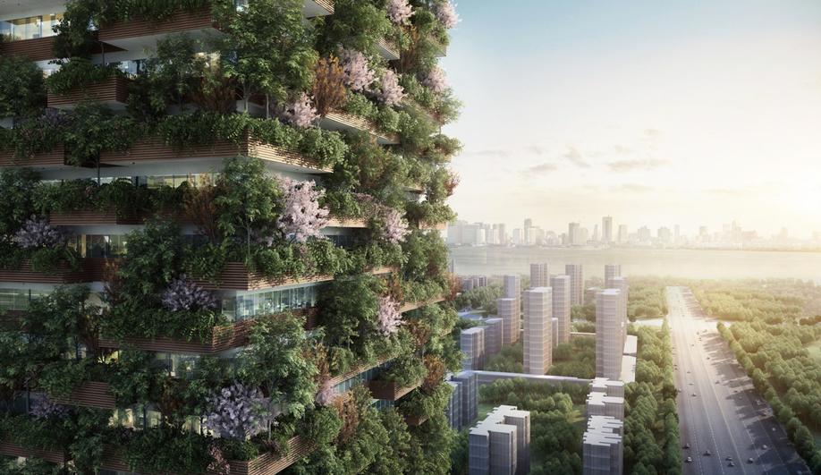 Ninjing Green Towers by Stefan Boeri,