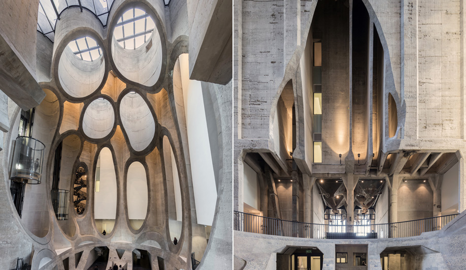 The Zeitz MOCAA has honeycomb-like apertures.