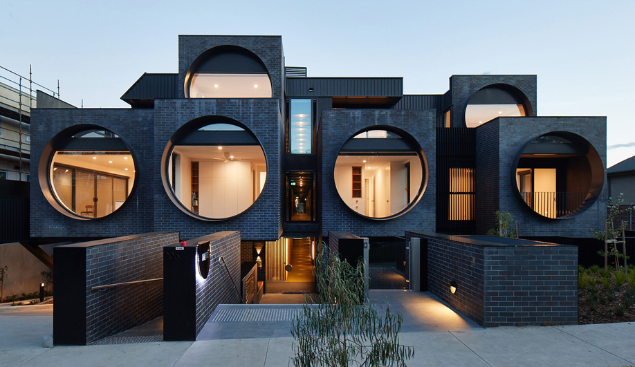 Melbourne's Cirqua Apartments Offer a Porthole View of Leafy Ivanhoe