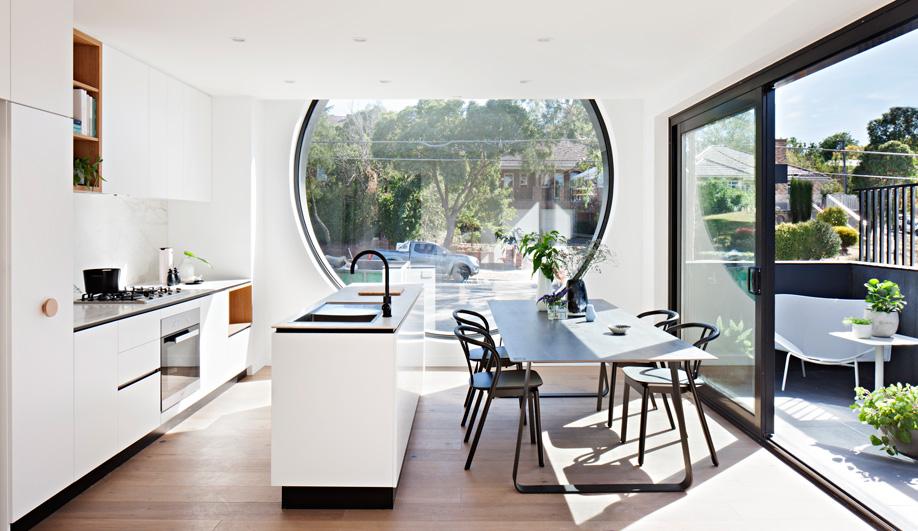 Melbourne's Cirqua Apartments feature six circular windows.