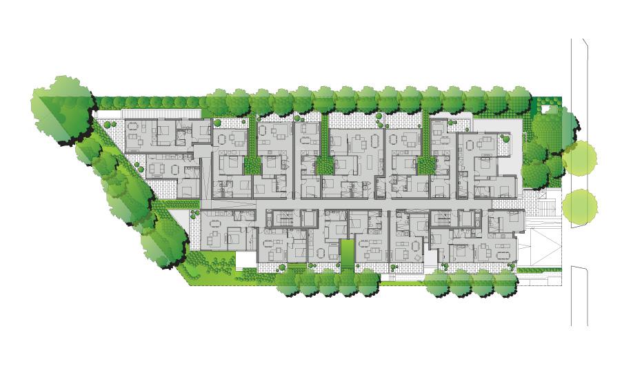 A site plan of Melbourne's Cirqua Apartments.