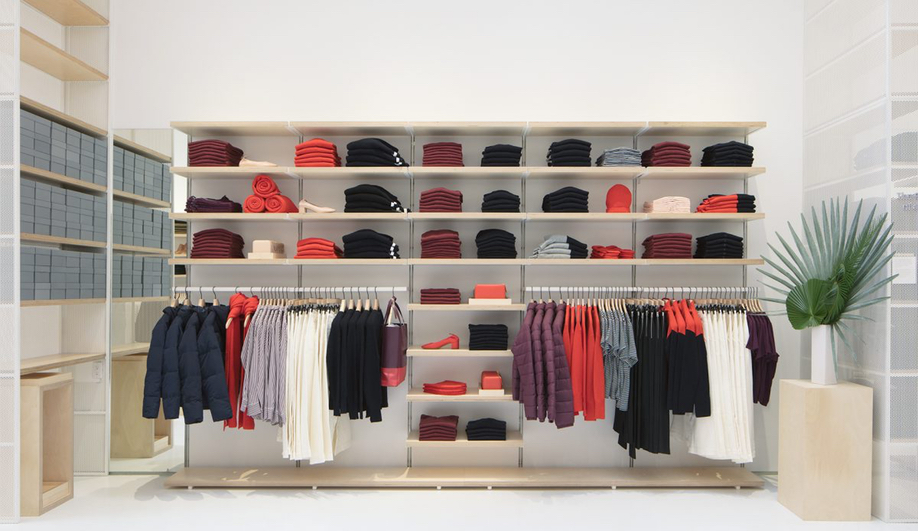 The Everlane flagship store puts product front and centre.