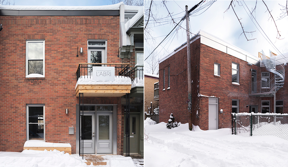 L'Abri's renovation of a Plateau house in Montreal.