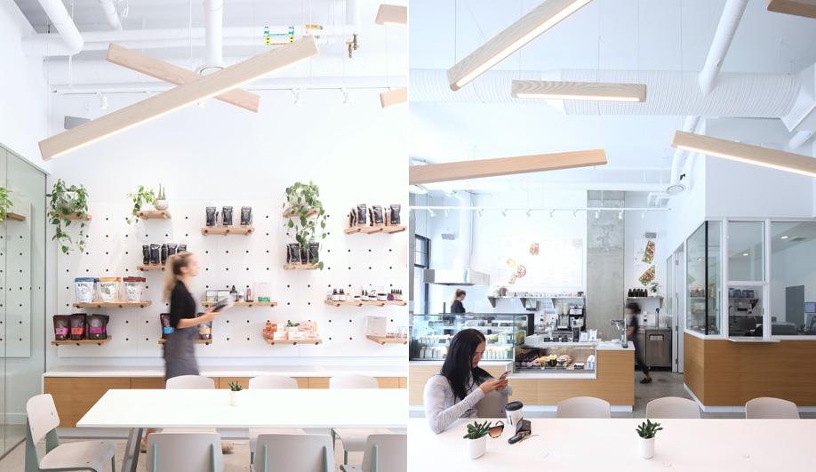 Vancouver designer Matthew McCormick's Wooden Line lights.