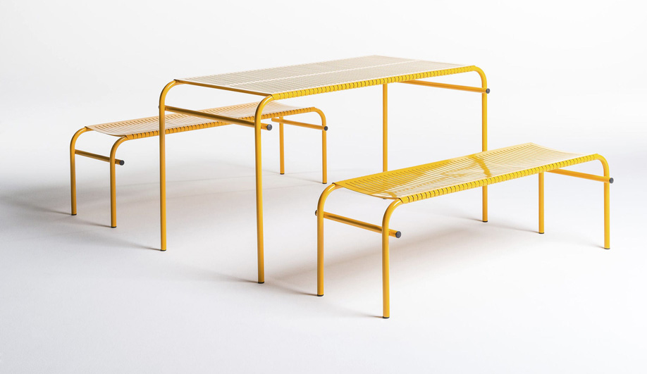 New Normal Table and Bench by D'Arrigo External Design