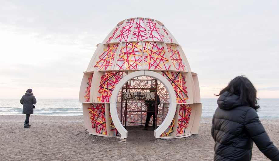 Nest by Adrian Chiu, Arnel Espanol and Henry Mai of Ryerson University, is one of the 2018 Winter Stations.