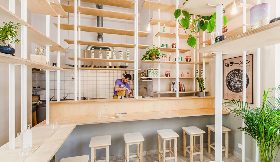 A glimpse inside Warsaw's Vegan Ramen Shop.