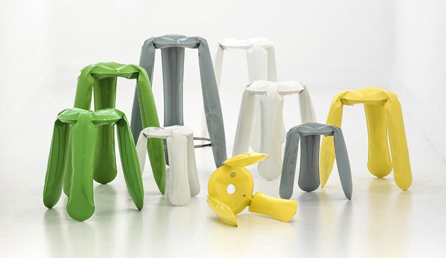 Oskar Zieta's Nawa uses the same technology as his Plopp stools.