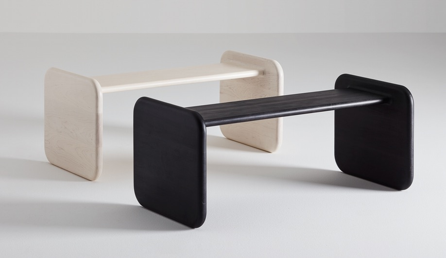 Contemporary Canadian-Made Wood Furniture: Bone Bench 014 by Loïc Bard