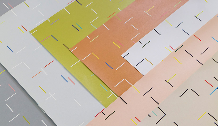 Color Bars Wallcovering by Designtex
