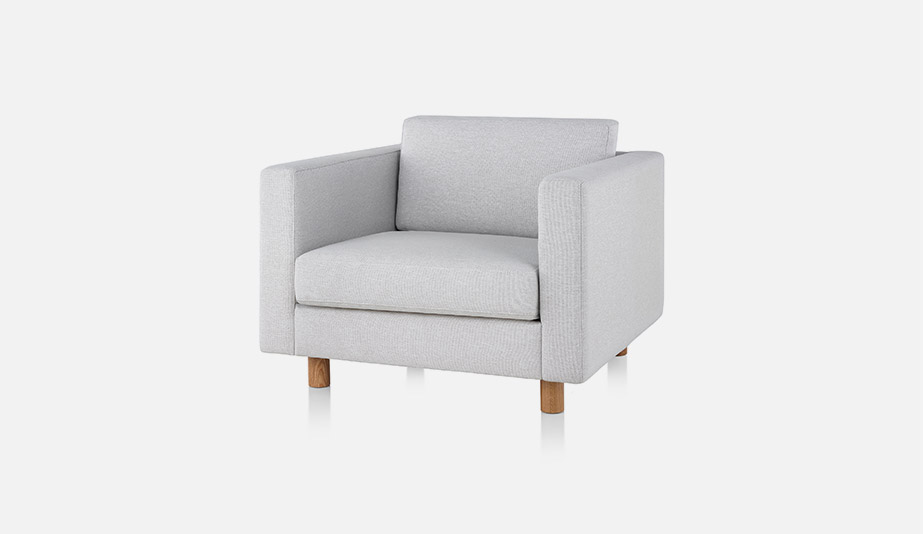 An armchair from the Lispenard Sofa Group by Herman Miller.