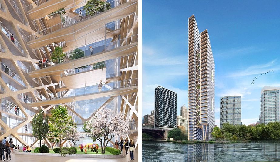 Rise of the green skyscraper: The River Beech timber tower, by Perkins+Will, is a plyscraper in Chicago.