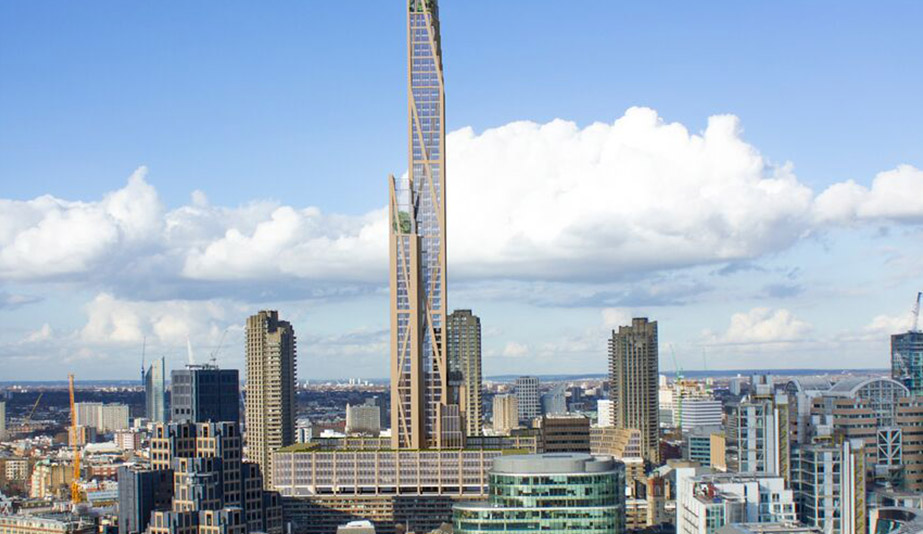 Rise of the green skyscraper: the Oakwood timber tower, by PLP Architects, is a plyscraper project in London.