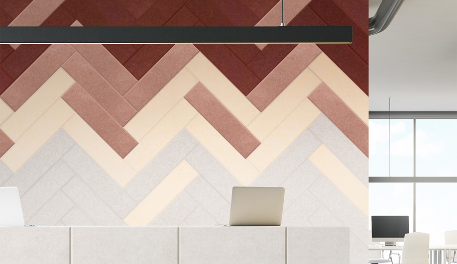 Herringbone Sereno Panels by Akustus