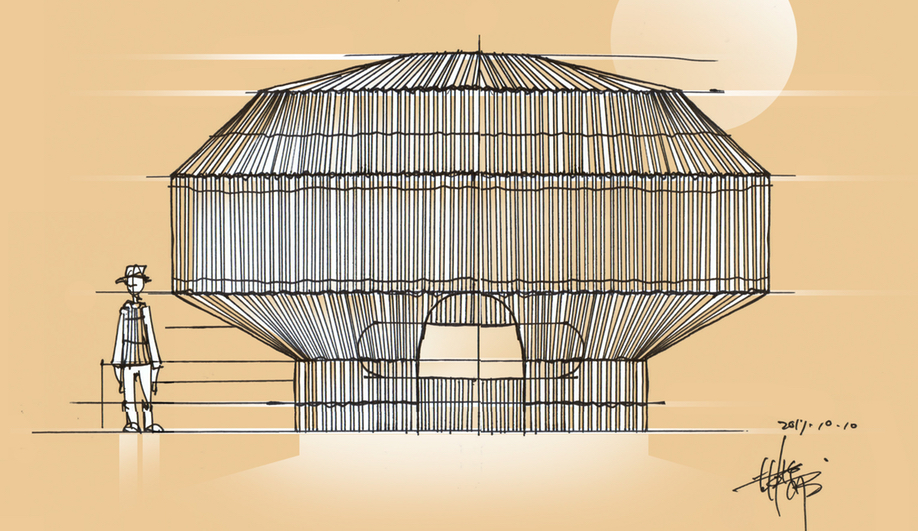 Thao Tribe design: Cheng-Tsung Feng's Fish Trap House is patterned after the Taiwanese indigenous tribe's riving fishing techniques.
