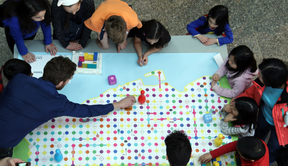 Professional architects and planners were on hand to guide Naama Blonder's Kids Build Cities.